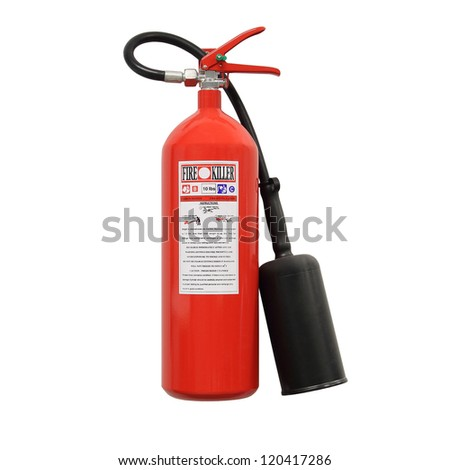 Fire extinguisher (isolated) - stock photo