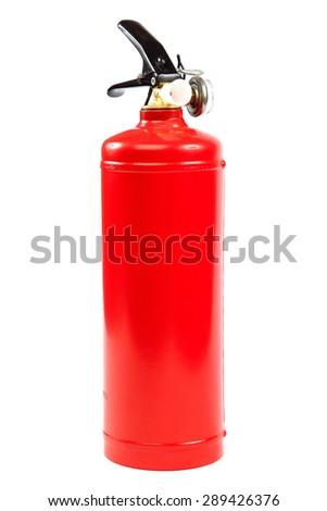 Fire extinguisher isolated on white background. - stock photo