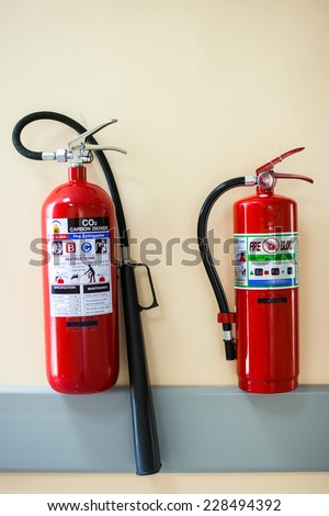 Fire-extinguisher isolated with clipping path