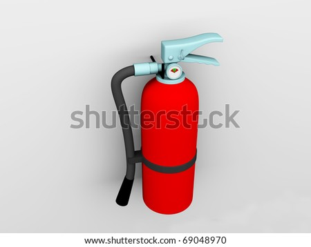 Fire extinguisher over white background
