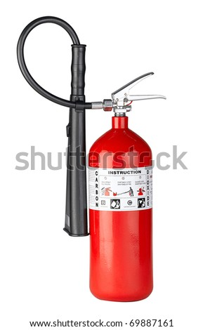 Fire extinguisher to protect your property from fire the image isolated - stock photo