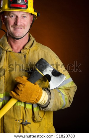 Fire Fighter - stock photo