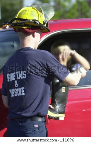 Fire fighter fill the boot for charity