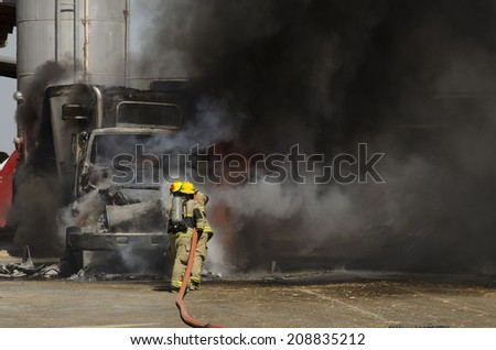 Fire fighters respond to a semi truck and silage fire at a dairy farm