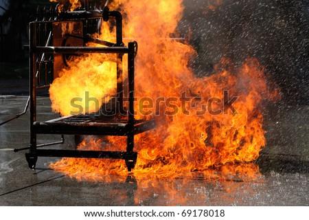 Fire Fighting - stock photo