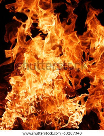 fire flame, can be use as background - stock photo