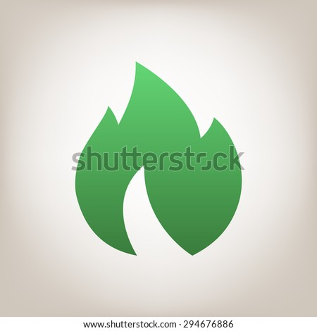Fire, flame icon. - stock photo
