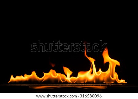 Fire flames background - stock photo