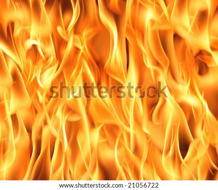 Fire flames background. High resolution image. - stock photo