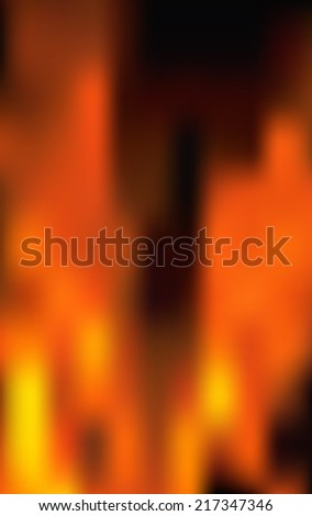 Fire flames  background. Raster version. - stock photo