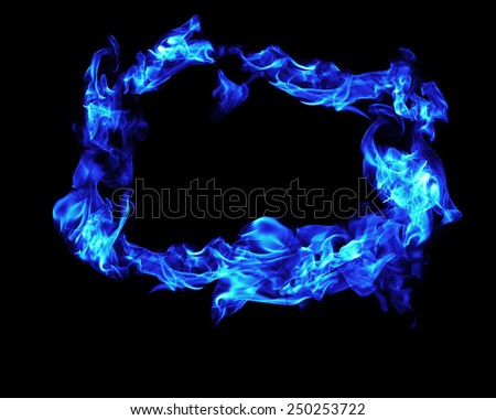 fire flames frame on white background