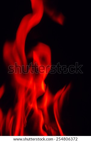 fire flames on a black background - stock photo