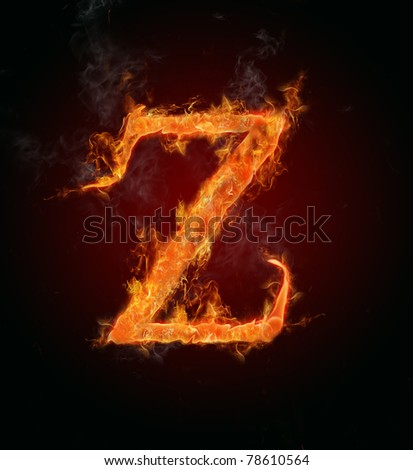 "Fire flaming letter ""Z"""