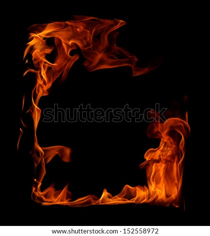 Fire frame in black - stock photo