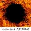 Fire hole background - stock photo