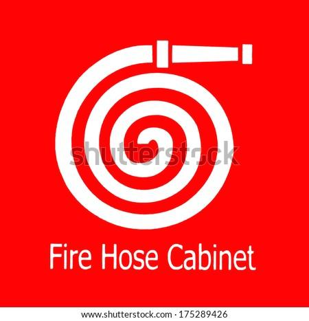 Fire hose symbol, - stock photo