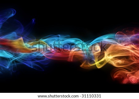 Fire & ice design - stock photo