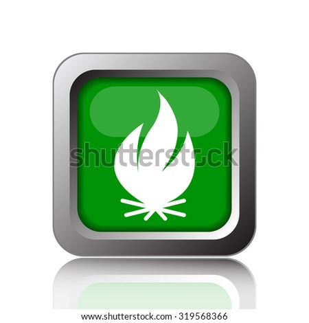 Fire icon. Internet button on background.  - stock photo