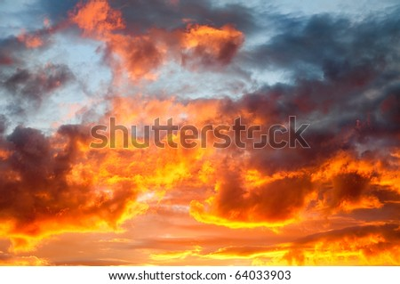 Fire in the sky - stock photo