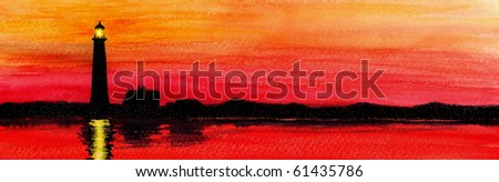 Fire Island Lighthouse - stock photo