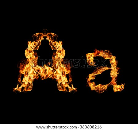 Fire letter A.