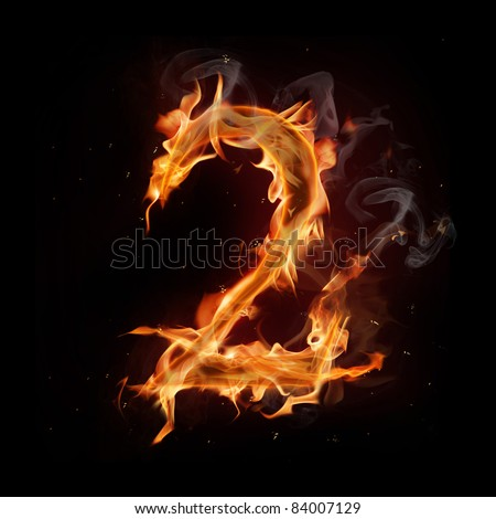 Fire number two - stock photo