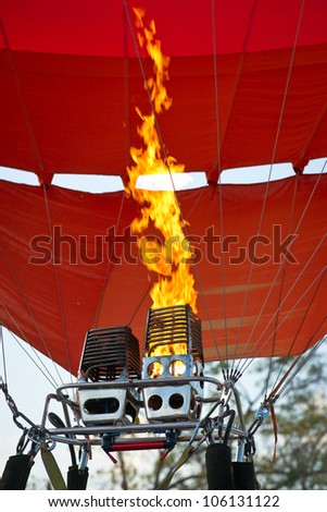 Fire of air balloon burner
