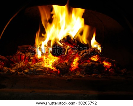 fire on the oven