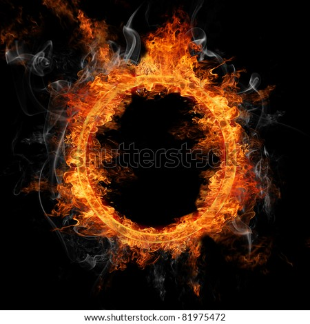 Fire ring - stock photo