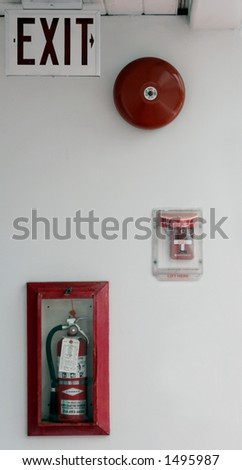 Fire safety. - stock photo