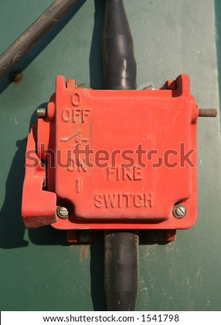 Fire safety switch - stock photo