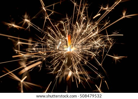 fire spark xmas with black background