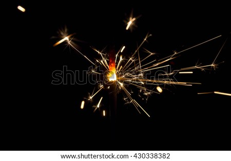 fire Sparks in the Dark. Sparks - stock photo