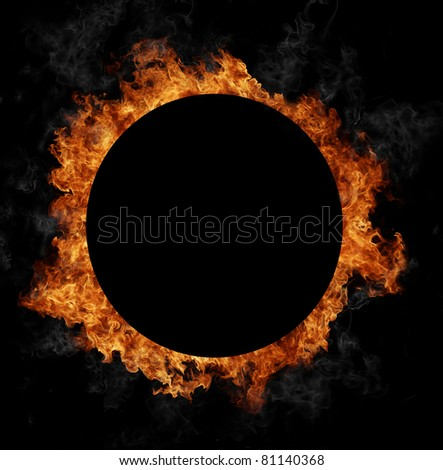 FIre sphere - stock photo