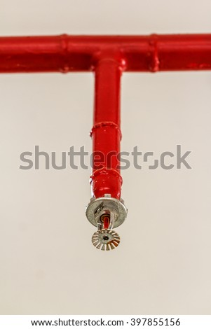 Fire Sprinklers Springer on white background - stock photo