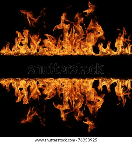 Fire stripe - stock photo