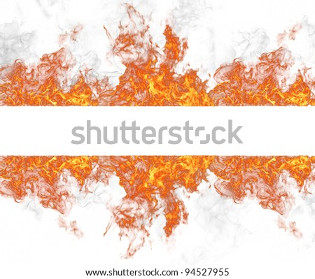 Fire stripe, isolated on white background