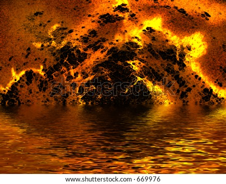 Fire Tunnel - stock photo