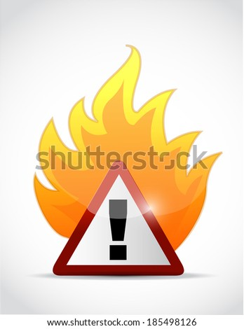 fire warning symbol illustration design over a white background - stock photo