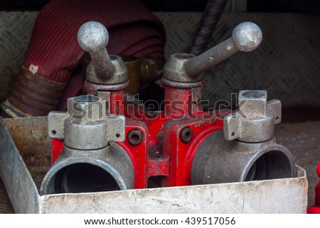 Fire Water hose connector - stock photo