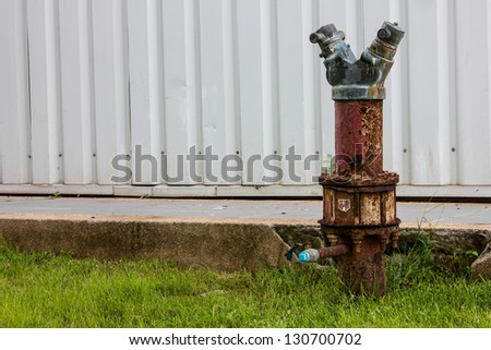 fire water pipe safety building - stock photo