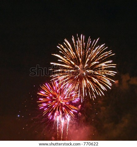 Fire works 1 - stock photo