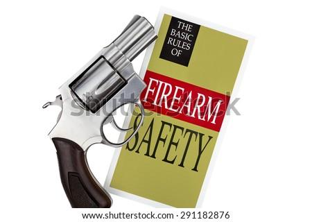 Firearm Safety Revolver Gun Pistol - stock photo