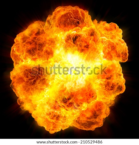 fireball: explosion - stock photo