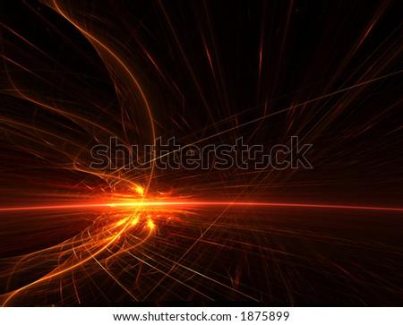 Fireball Horizon - stock photo