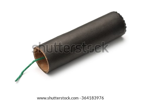 Firecracker isolated on white - stock photo