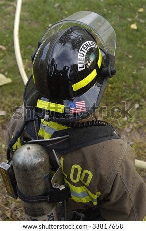 firefighter from top - stock photo