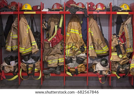 Firefighter locker room