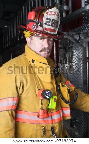 Firefighter Portrait - stock photo