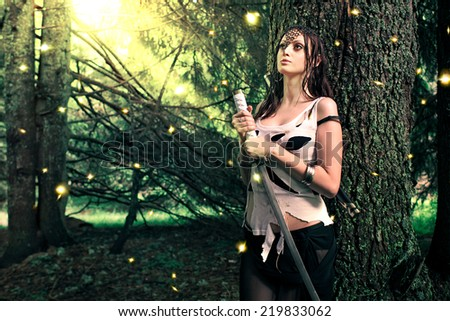 Firefly princess - stock photo